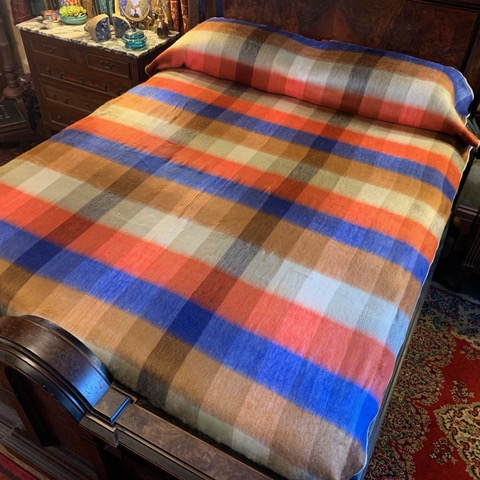 University of Virginia Plaid Alpaca Blanket