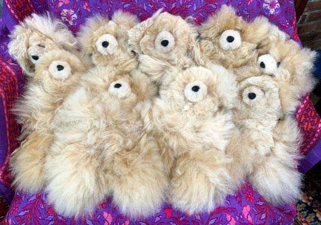Alpaca bears Tan (sold individually)
