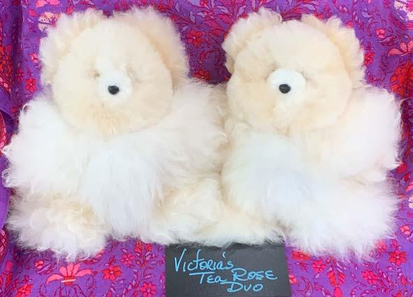Alpaca bears Victorias Tea Rose Duo (sold individually)