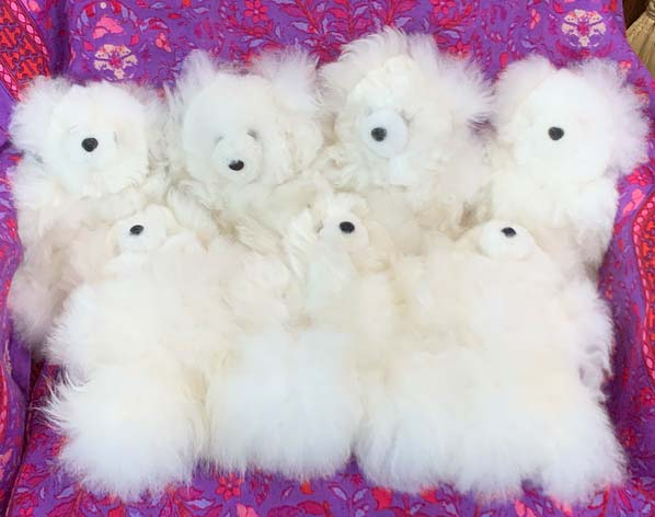 Alpaca bears White (sold individually)