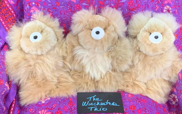 Alpaca bears Winchester Trio (sold individually)