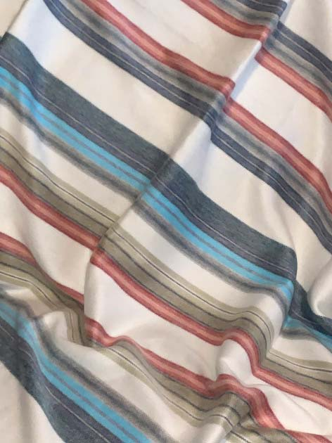 Candy Stripes Alpaca Throw