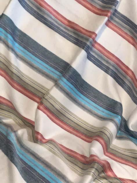 Candy Stripes Alpaca Throw