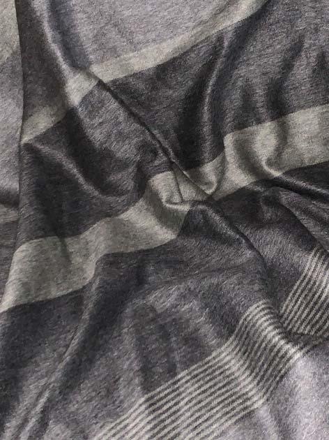 Runde Dark Grey and Silver Stripes Alpaca Throw