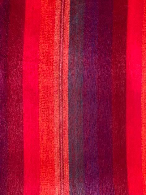 Throw Iridescent Orange and Reds