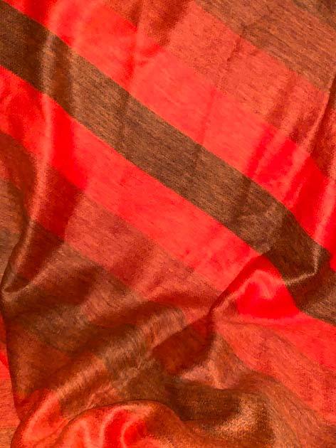 Orange Stripes Alpaca Throw