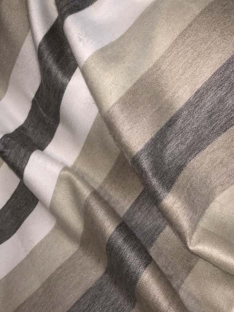 Runde Tan and Cream Stripes Alpaca Throw
