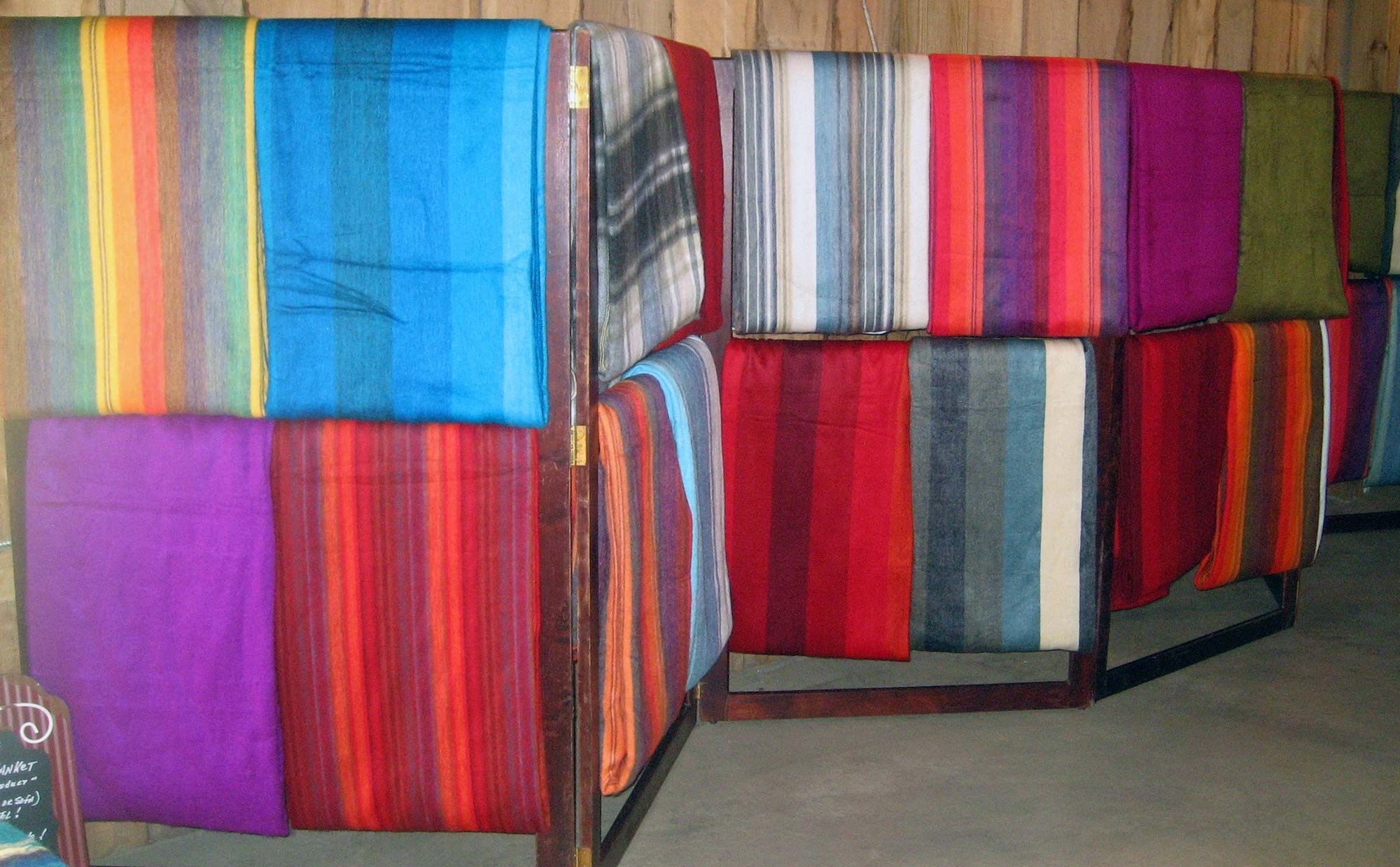 Alpaca blankets display
