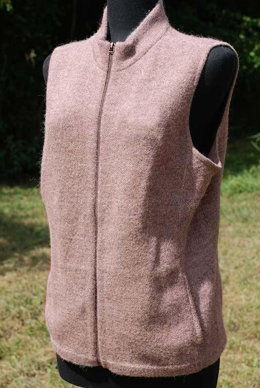 Women's alpaca vest Heathered Latte