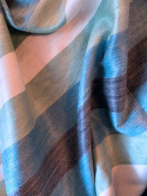 Alpaca Throw Blues and Sea Glass Green