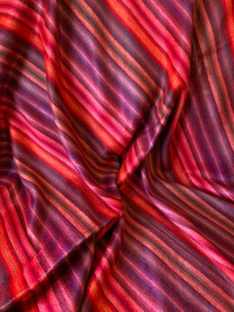 Alpaca Throw Mittie's Favorite Red and Cyan alpaca throw blanket