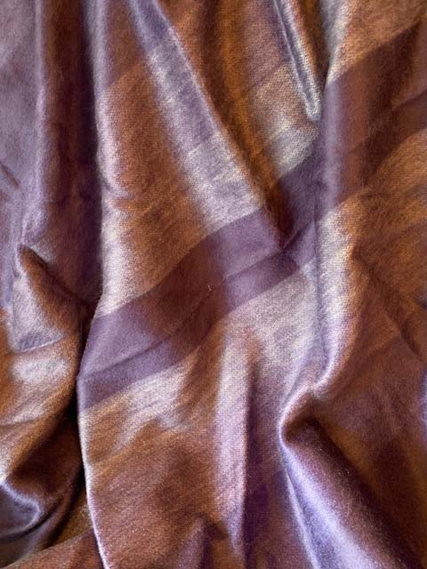 Alpaca Throw Peaceful Lavender Stripes