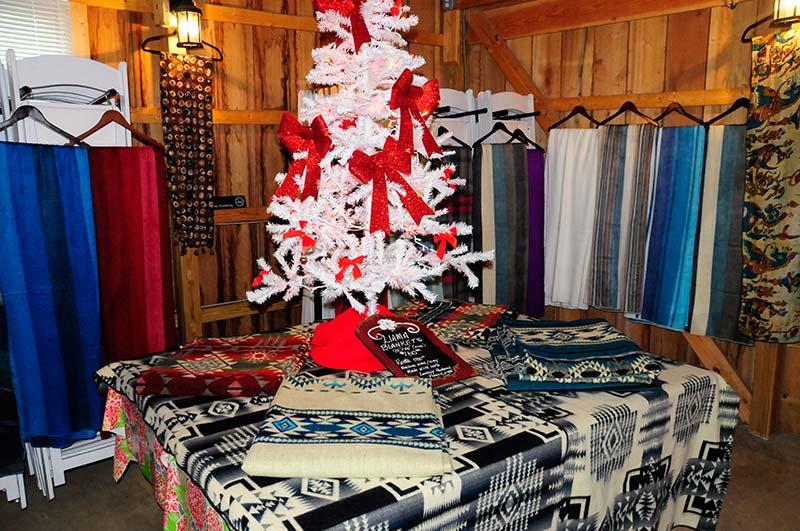 Holiday Alpaca Gift Shopping at P.A. Bowen Farmstead tobacco barn