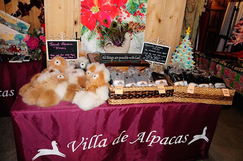 Holiday Alpaca Gift Shopping plush toys and alpaca socks