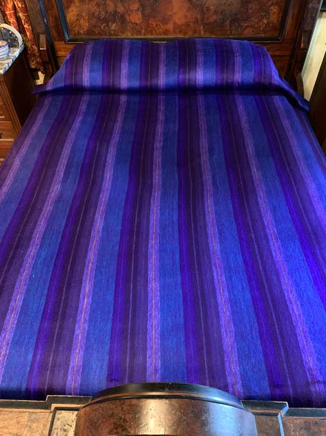 Awesome Deep Purple alpaca blanket