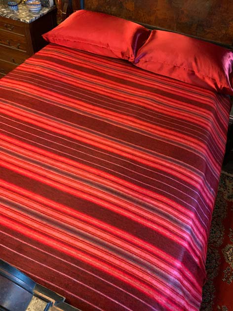 Christmas Red alpaca blanket