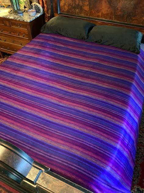 Purple Burgundy alpaca blanket