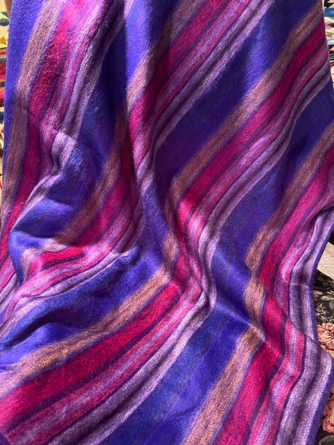 Purple Burgundy alpaca throw