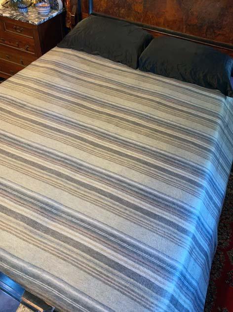 Subtle Grey Stripes alpaca blanket