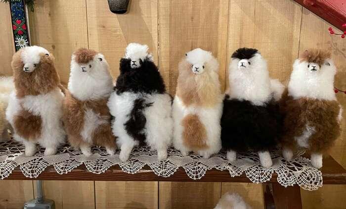 Plush Alpaca Llama toys approximately 10x8x6