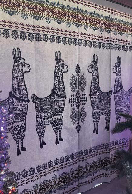 Llama Blanket Purple back