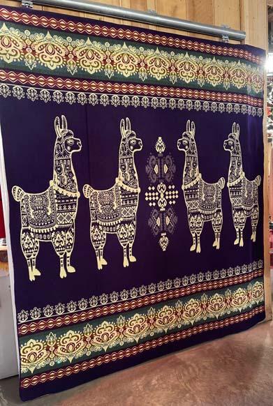 Llama Blanket Purple front
