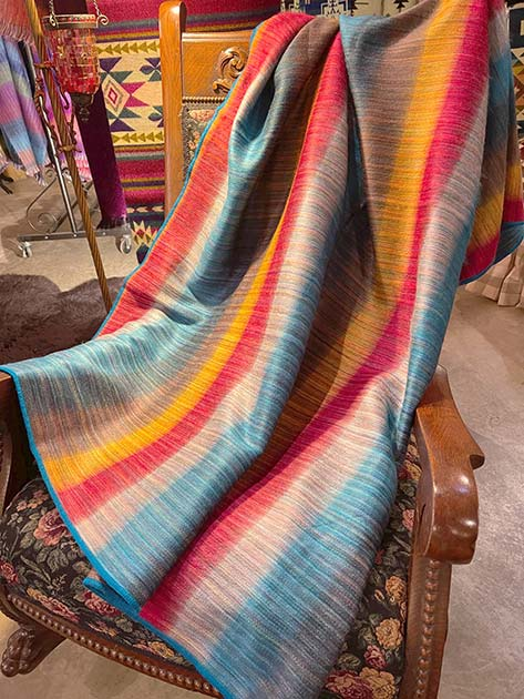 Yipes Stripes alpaca throw