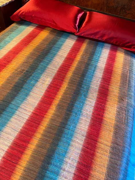 Yipes Stripes alpaca blanket