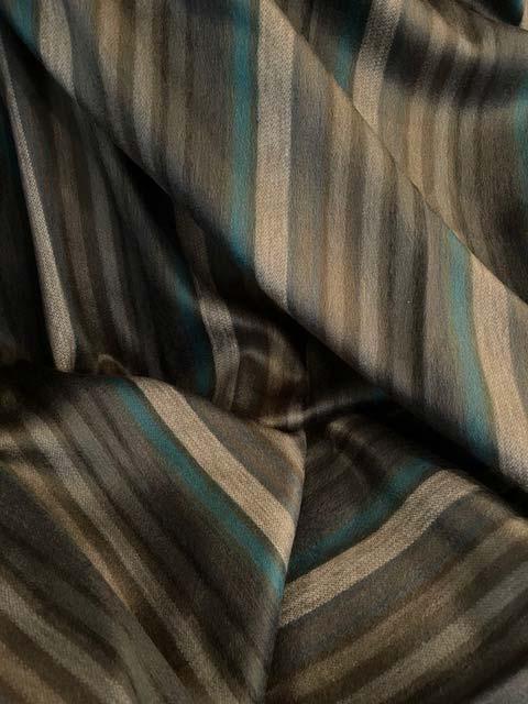 Charcoal Teals and Grey Stripes alpaca blanket