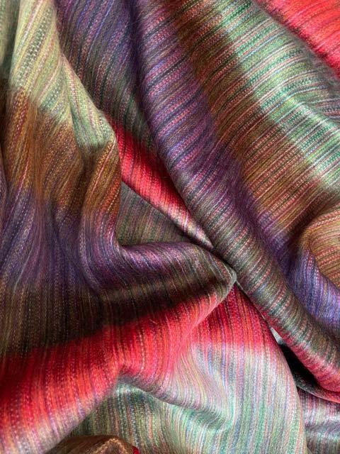 Dark Saturated Striped Colors of Earth alpaca blanket