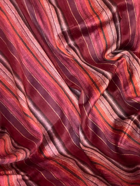 Gorgeous Burgundy and Red Stripes alpaca blanket