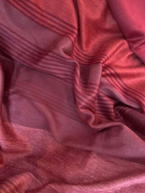 Pastel Reds Striped alpaca blanket