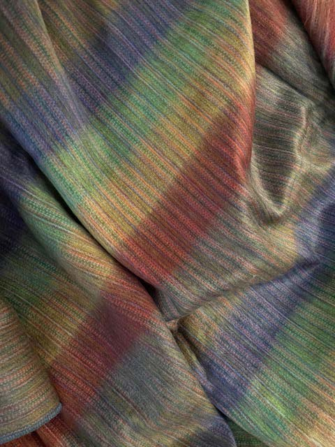 Pastel Striped Colors of Earth alpaca blanket
