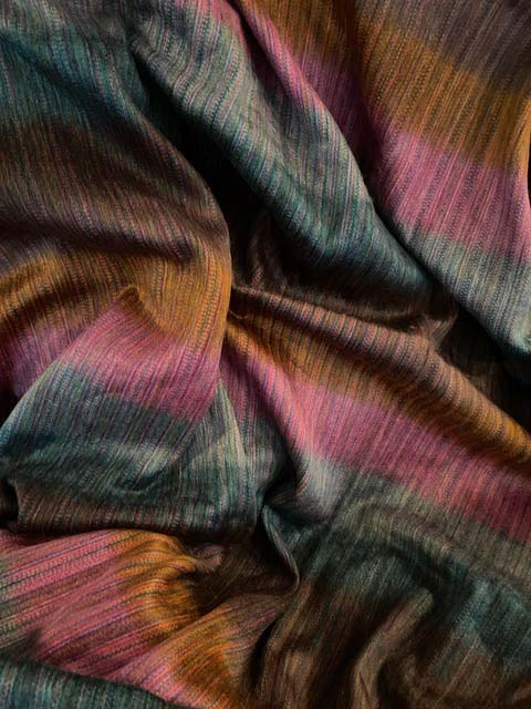 Pastel Striped Colors of- Spring Summer alpaca throw
