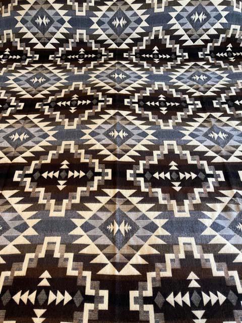 Greys, Browns and Tans Geometric alpaca blanket