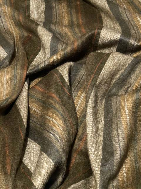 Awesome Earth Tones - Colors of the Woods alpaca throw