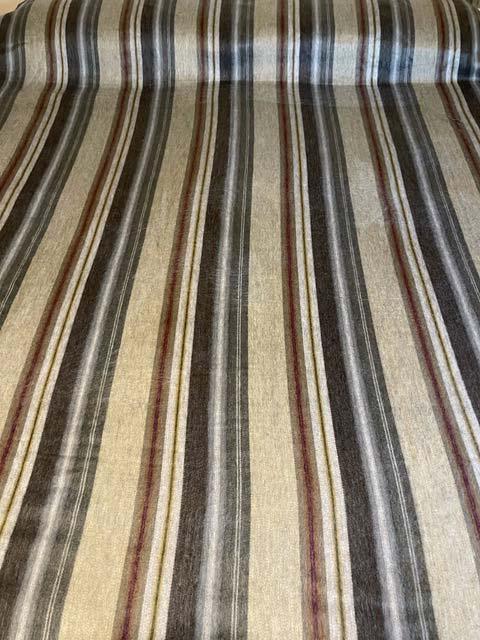 Beautiful Neutral Stripes alpaca blanket