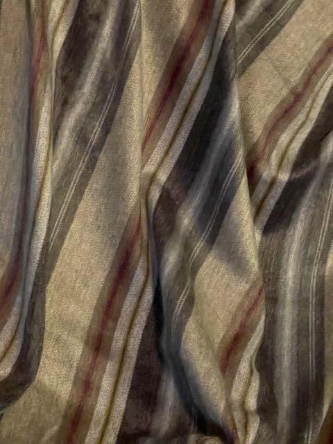 Beautiful Neutral Stripes alpaca throw