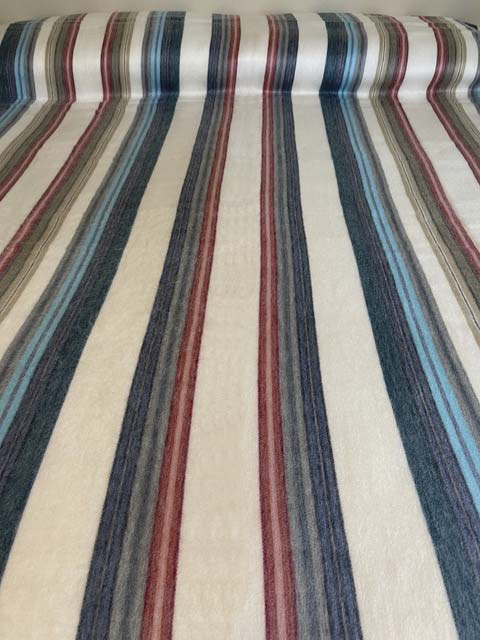 Peaceful Colors striped alpaca blanket