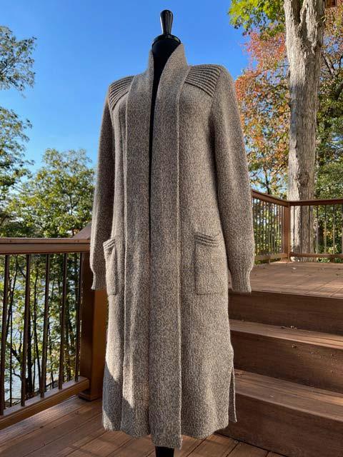 Alpaca Long Sweater Duster - Dark Beige