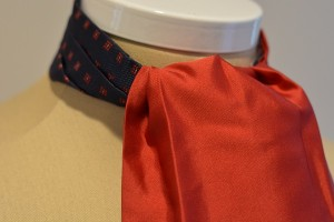 Ruby Red Reversible Ascot