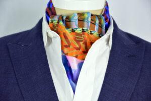 Plumeria Sterling Ascot Tie