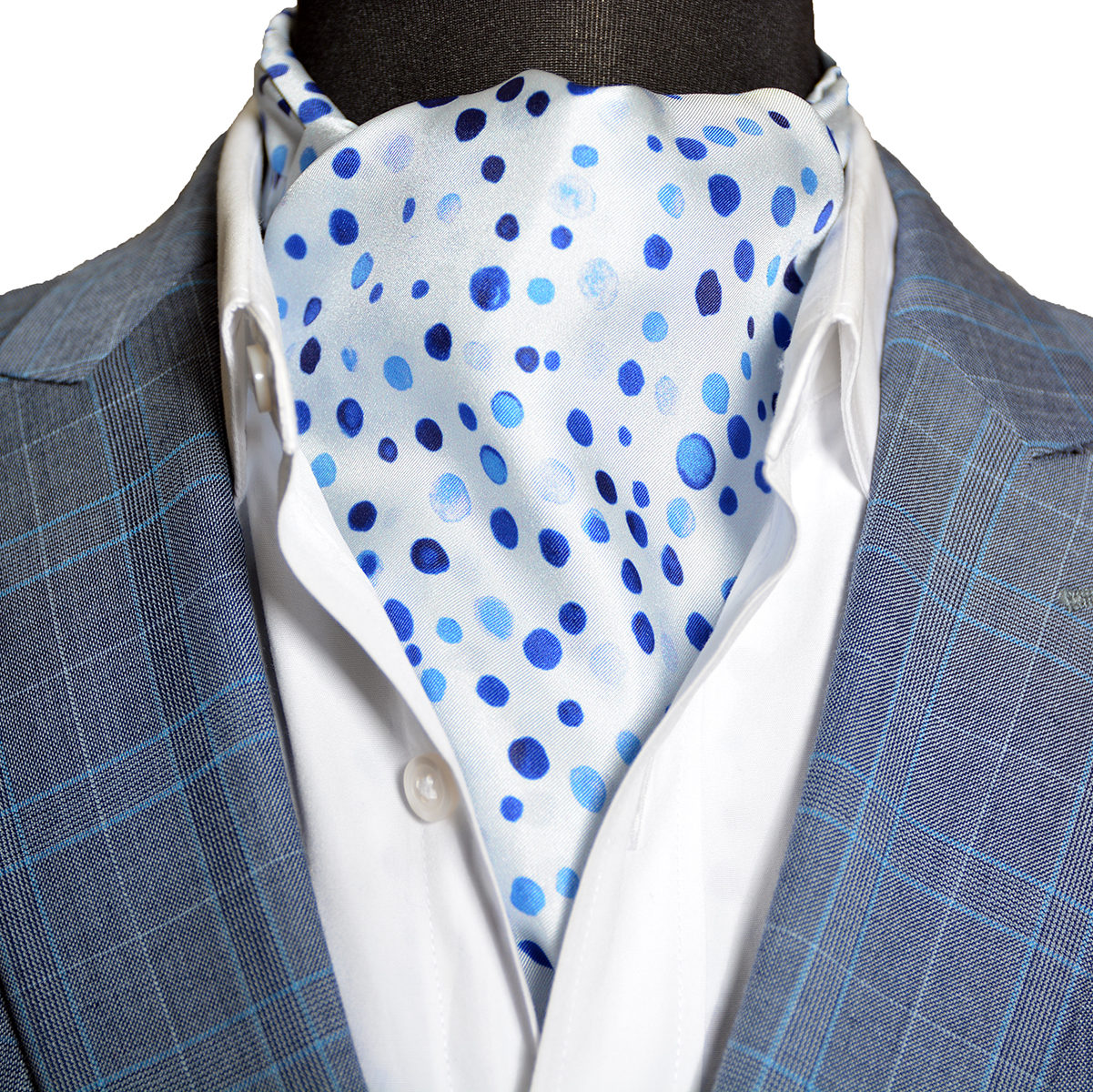 The Winter Frost Sterling Ascot Tie