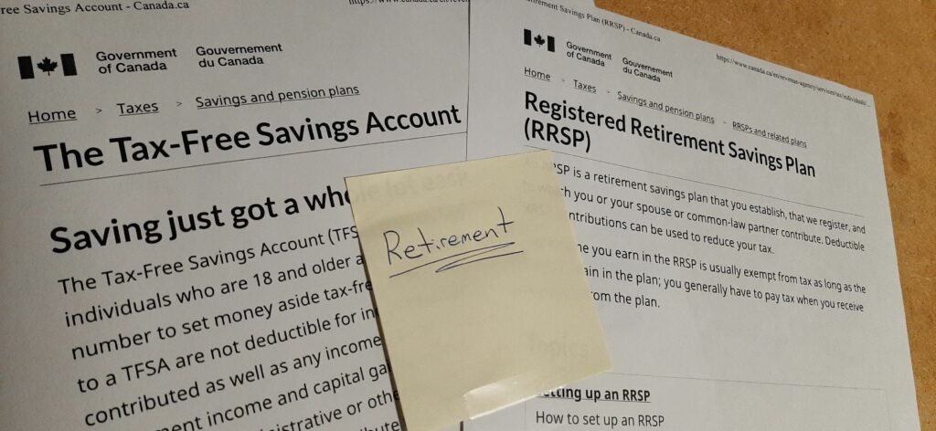 Comparing a RRSP and a TFSA