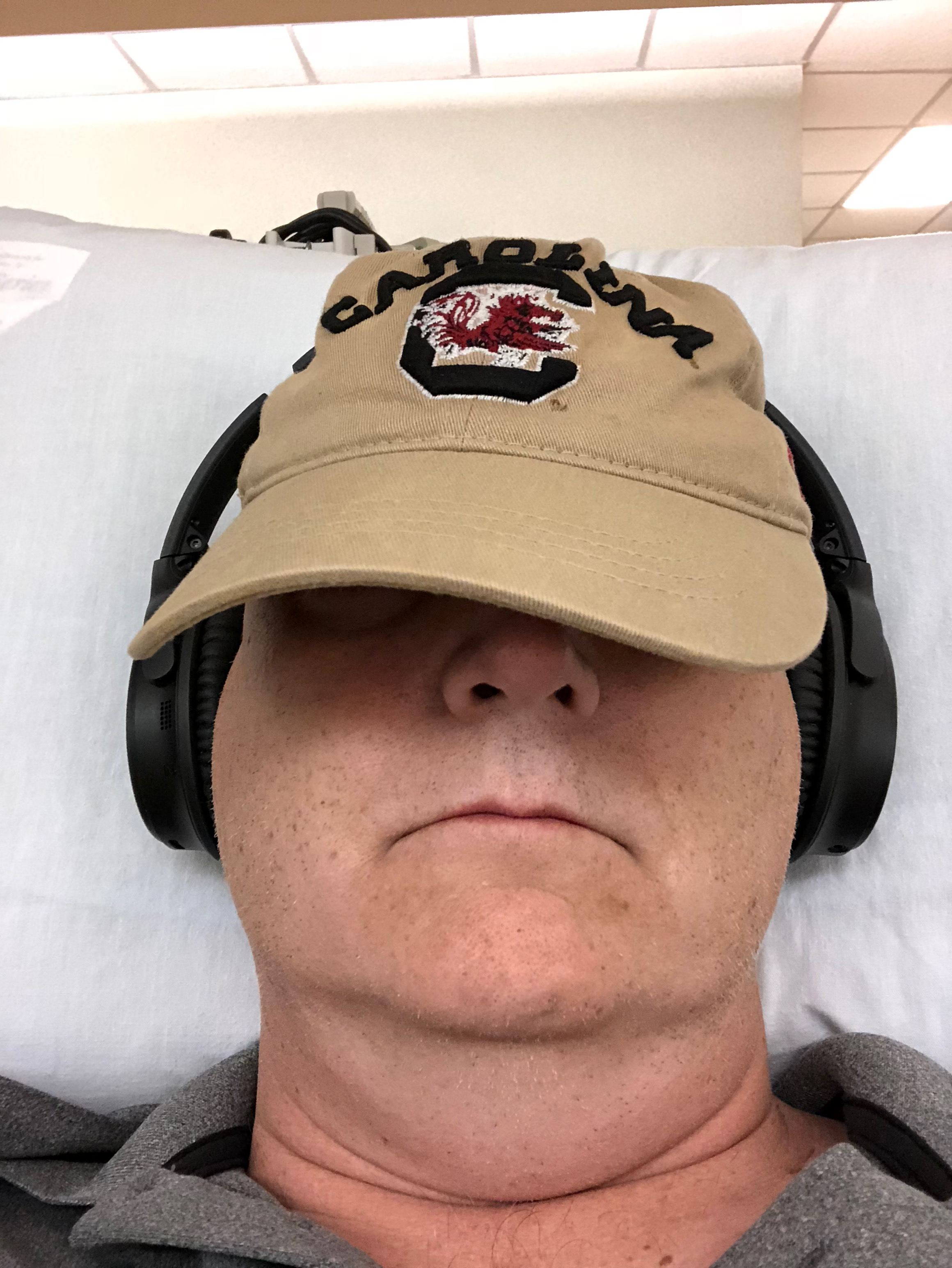 Me looking sexy in chemo.