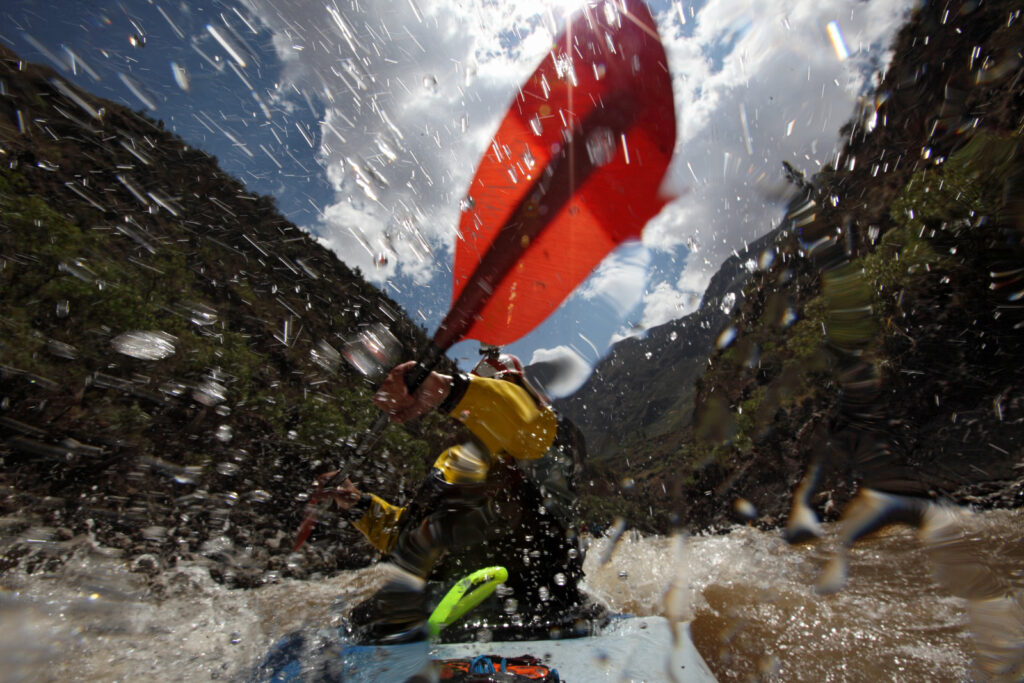 Amazon Express expedition in the Mantaro River downstream from Huancayo, Peru August 24, 2012.    Photo by Erich Schlegel