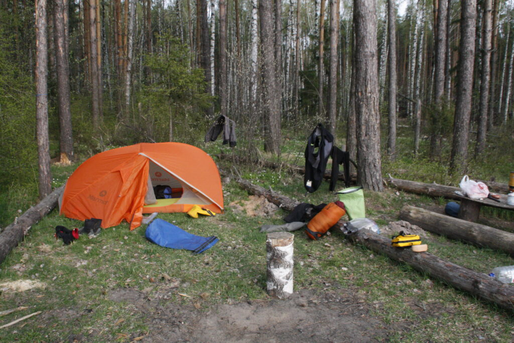 Typical Camp in Northern Russia