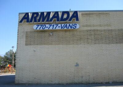 Armada Vans Channel letters