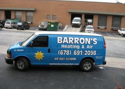 Barron's van graphics completed