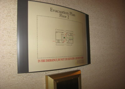 Building Evacuation plan sign